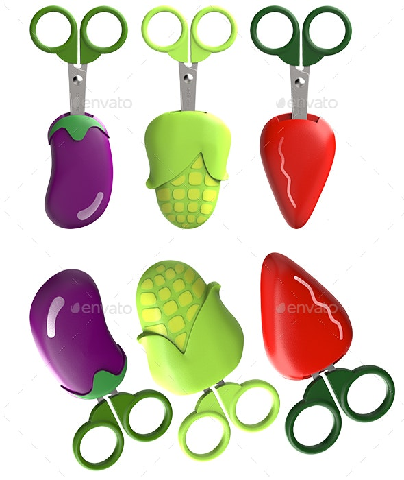 Fruit Scissors - Objects 3D Renders