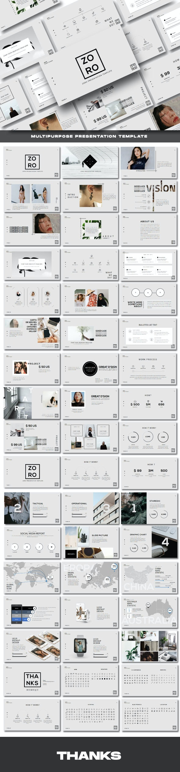 Zoro Business Powerpoint Template - Business PowerPoint Templates