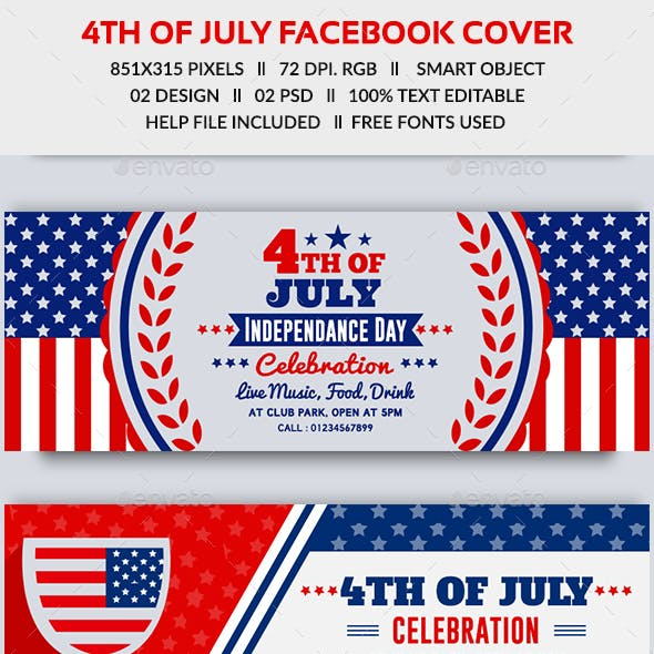 4th of July Facebook Cover