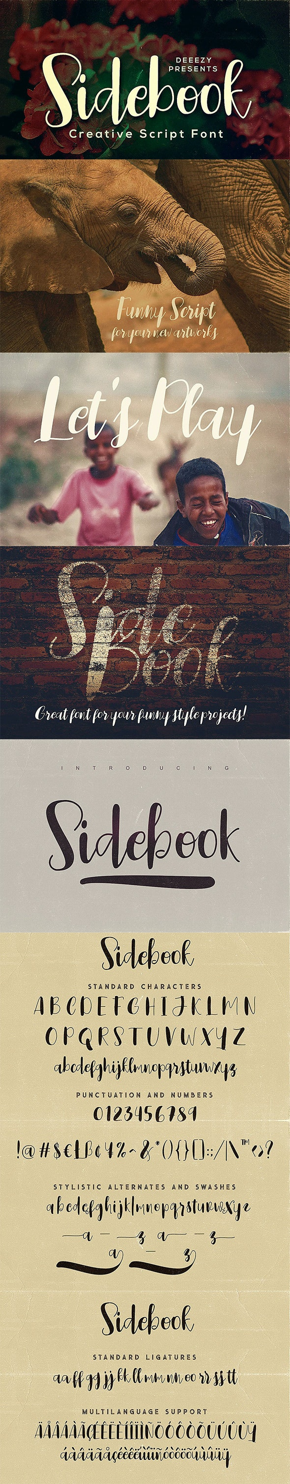 Sidebook Script Font - Hand-writing Script