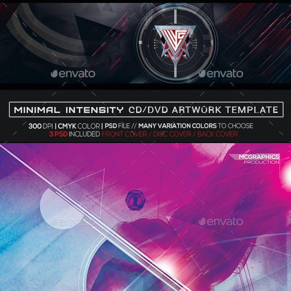Minimal Intensity Photoshop CD/DVD Template