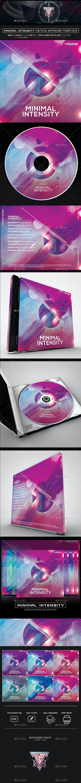 Minimal Intensity Photoshop CD/DVD Template - CD & DVD Artwork Print Templates
