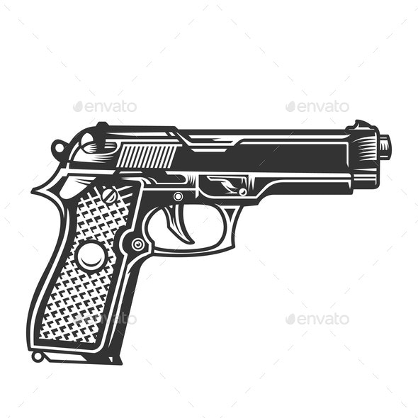 Monochrome Handgun - Miscellaneous Vectors