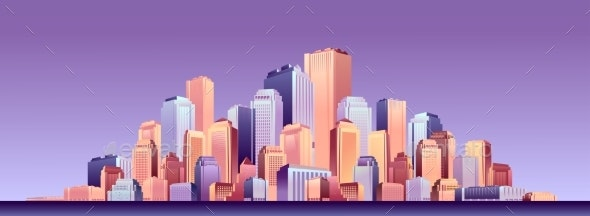 Cityscape Futuristic City - Buildings Objects