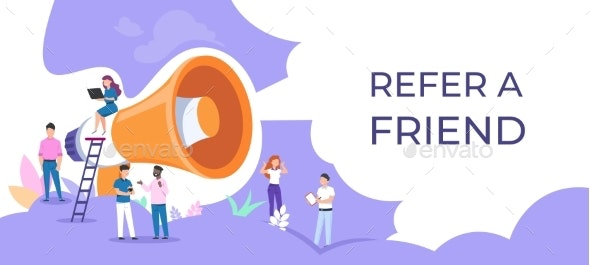 Refer a Friend - People Characters