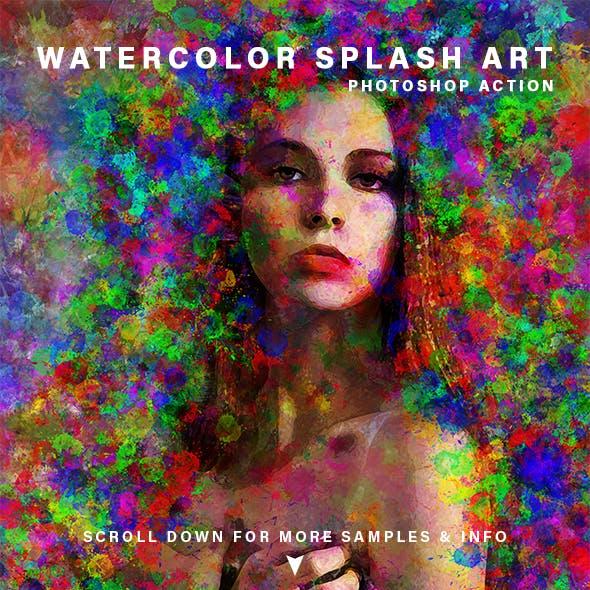 Watercolor Splash Art Action
