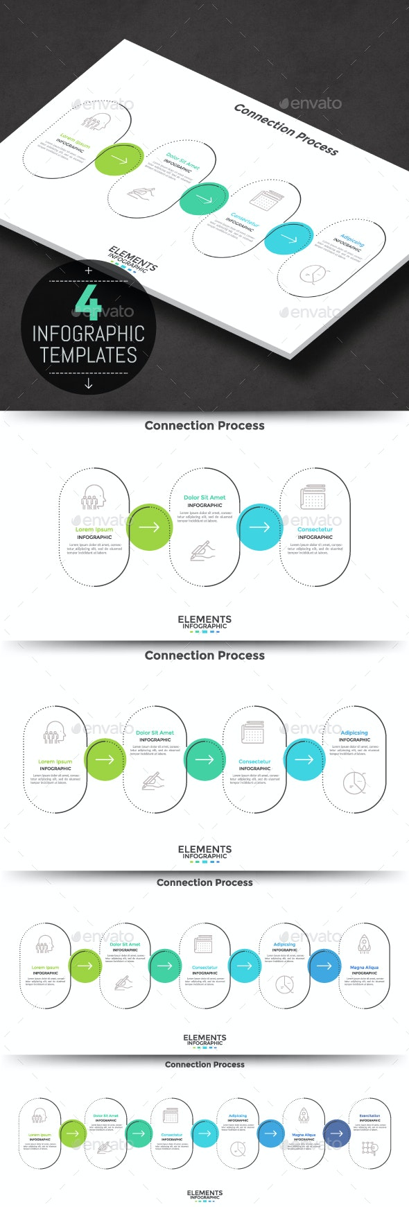 Modern Infographic Process Template - Infographics