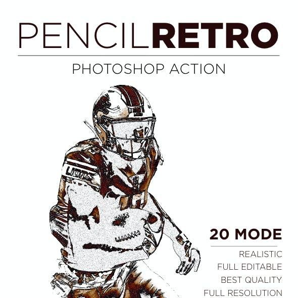 Retro Pencil Photoshop Action