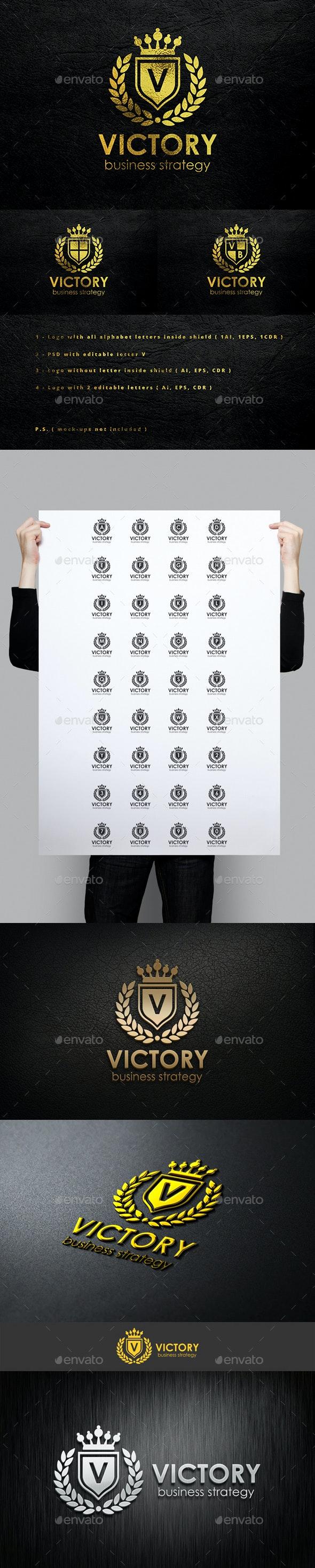 Victory - Heraldic Elegant Logo Crest Multipurpose Logo - Crests Logo Templates