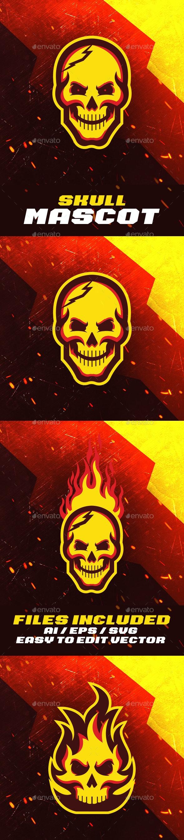 Skull Mascot Logo - Monsters Characters