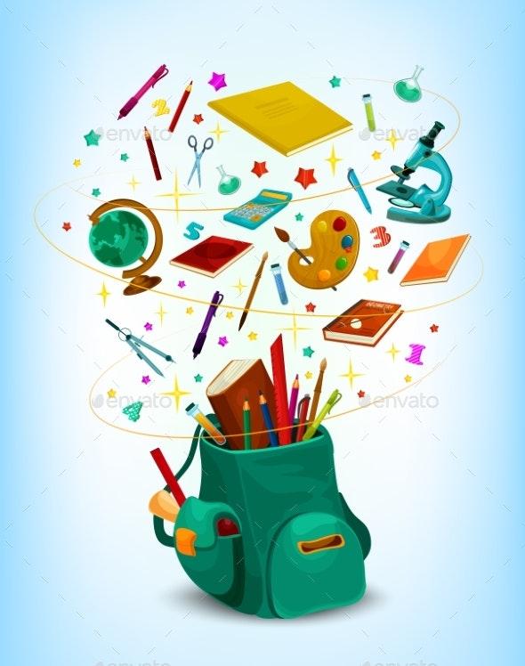 Back to School Vector Rucksack Poster - Miscellaneous Vectors