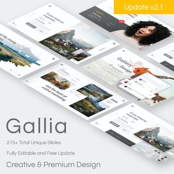 Gallia - Creative Google Slide UPDATE VERSION 2.1 Template