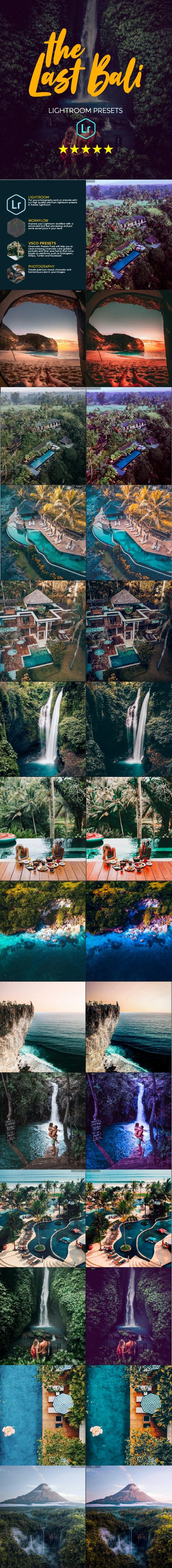Bali Vacation Travel Lightroom Presets - Landscape Lightroom Presets