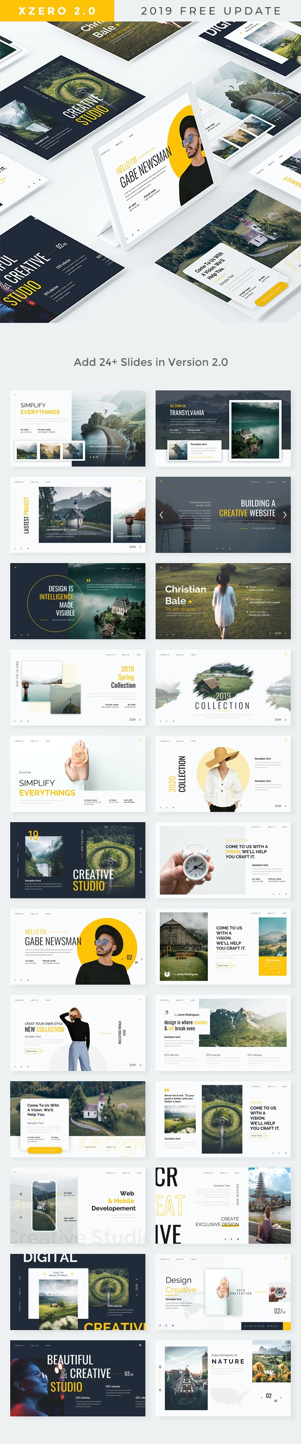 Xzero - Creative Powerpoint Template UPDATE VERSION 2.0 - Creative PowerPoint Templates