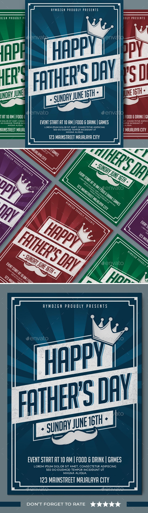 Fathers Day Flyer - Events Flyers