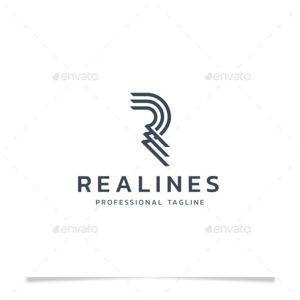 Letter R - Real Lines Logo