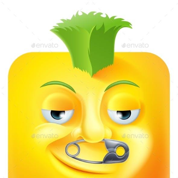 Punk Mohawk Emoji Emoticon Icon Cartoon Character