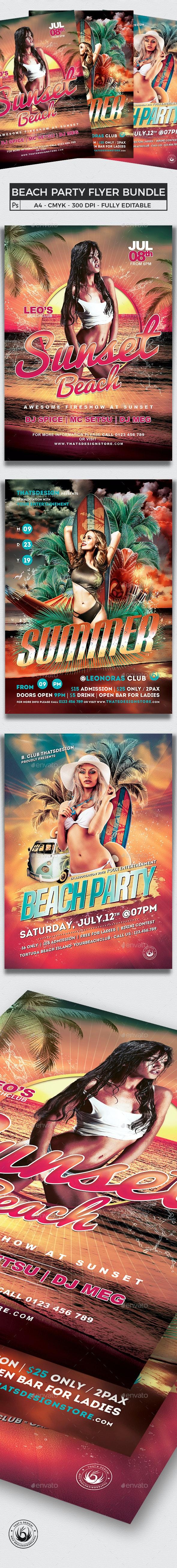 Beach Party Flyer Bundle V1