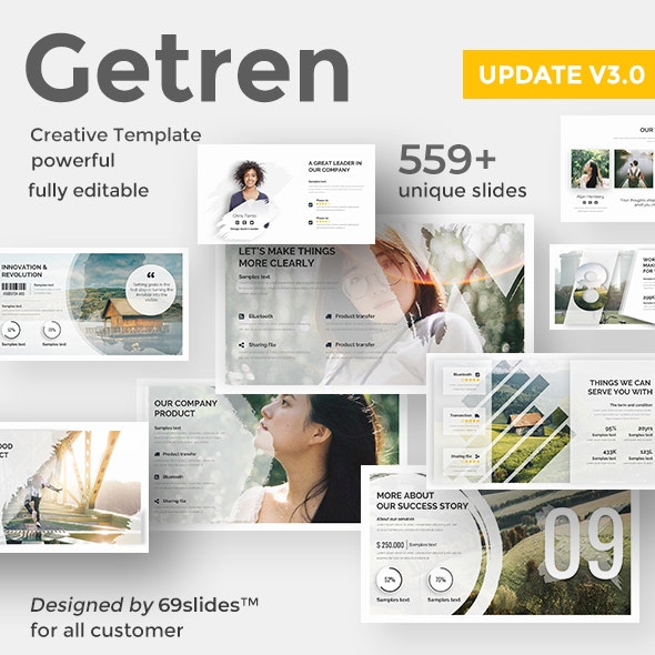 Getren Creative Google Slide Template UPDATE VERSION 3.0 - Google Slides Presentation Templates