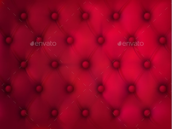 Buttoned Leather Background Red Quilted Fabric - Backgrounds Decorative