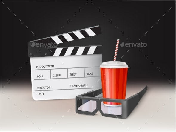 Movie in Cinema Realistic Vector Concept - Concepts Business