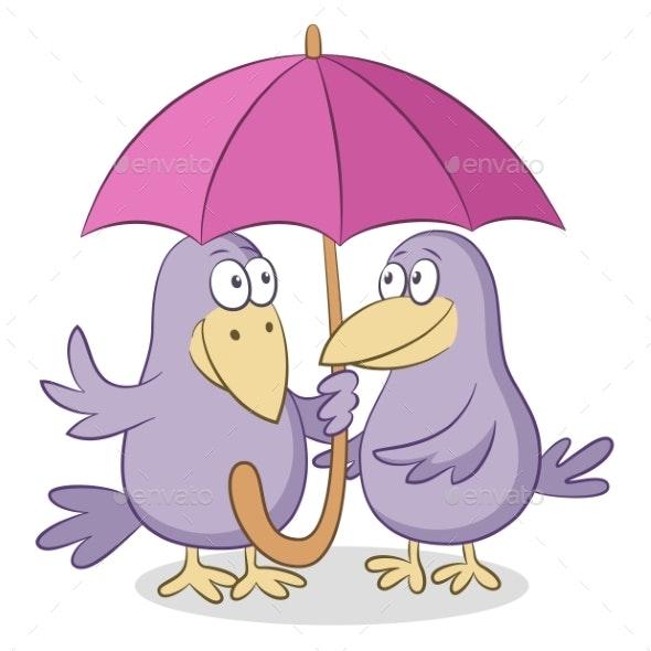 Cartoon Crows - Animals Characters