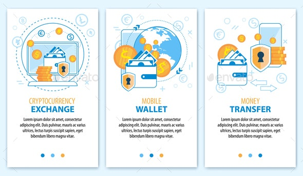 Cryptocurrency Exchange Wallet Money Transfer - Concepts Business