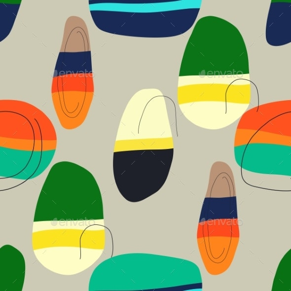 Vector Seamless Pattern. Background with Abstract - Patterns Decorative