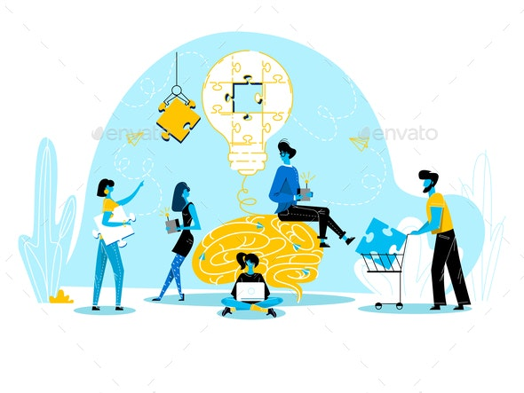 Office People Work Together - Concepts Business