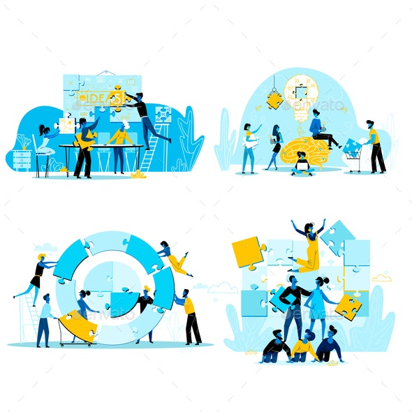 Teamwork Business People - Concepts Business