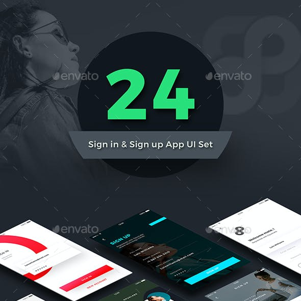 New Sign in Sign up Screens App UI Kit | 24 Screens