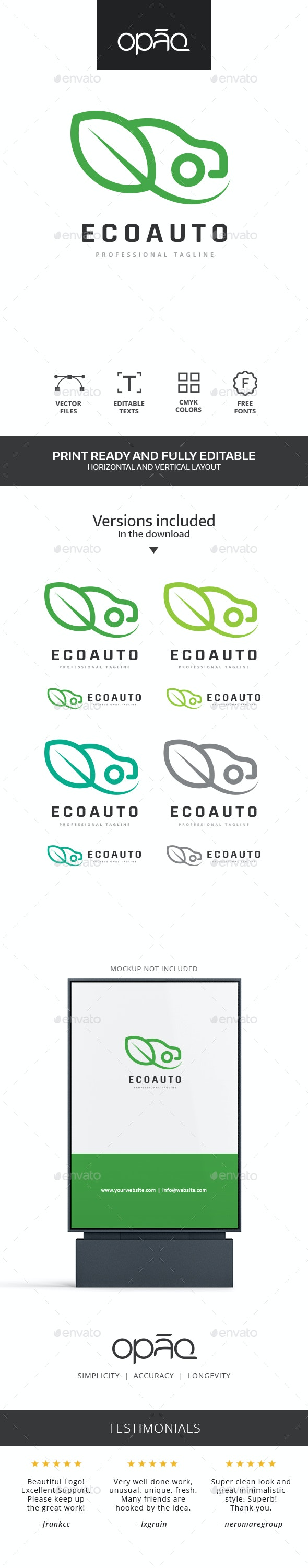 Ecological Green Car Logo - Symbols Logo Templates