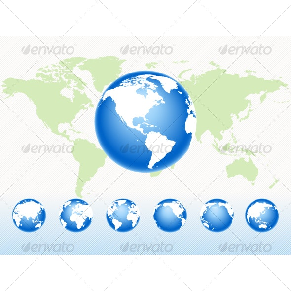 Set vector globes - Travel Conceptual