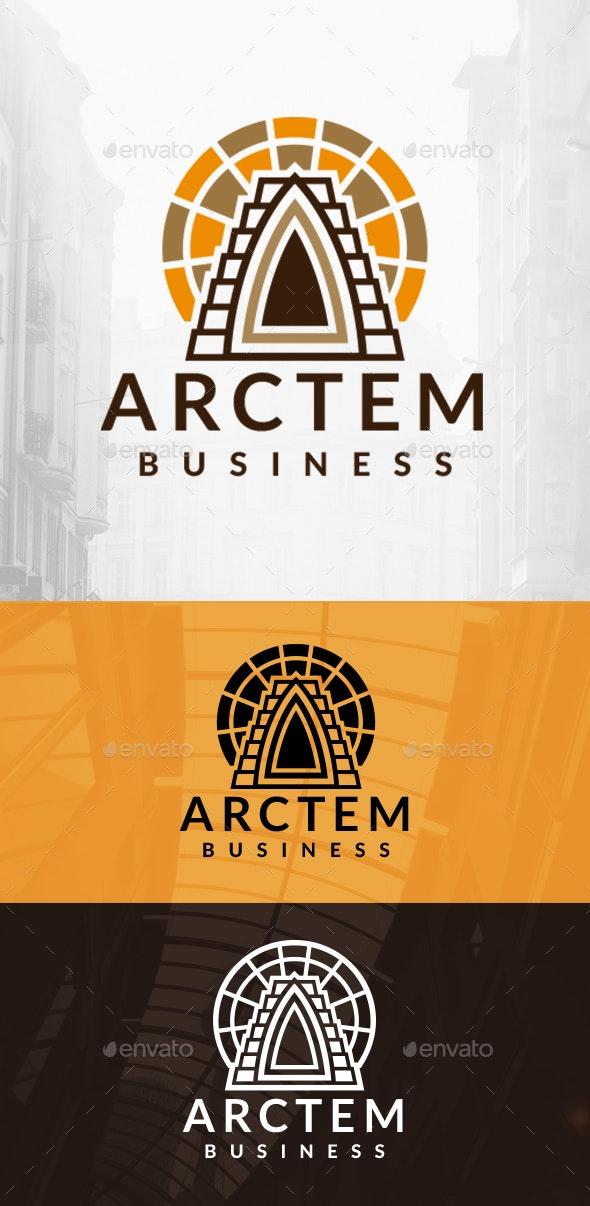 Ancient Architecture Logo - Buildings Logo Templates
