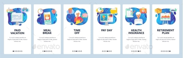 Mobile App Onboarding Screens - Miscellaneous Vectors