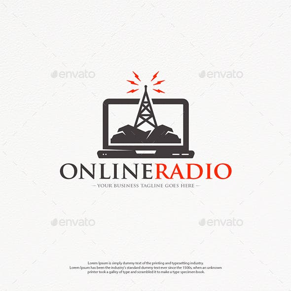 Streaming Radio Logo Template