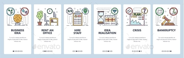 Mobile App Onboarding Screens Business Idea - Concepts Business