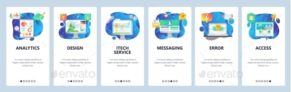 Mobile App Onboarding Screens Financial Analytics - Concepts Business