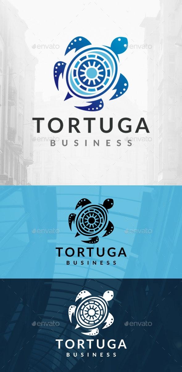 Turtle Decorative Logo - Animals Logo Templates