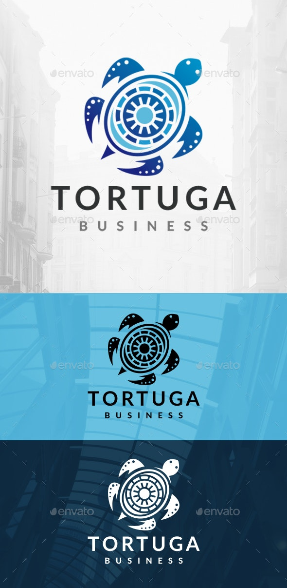 Turtle Decorative Logo - Animals Logo Templates