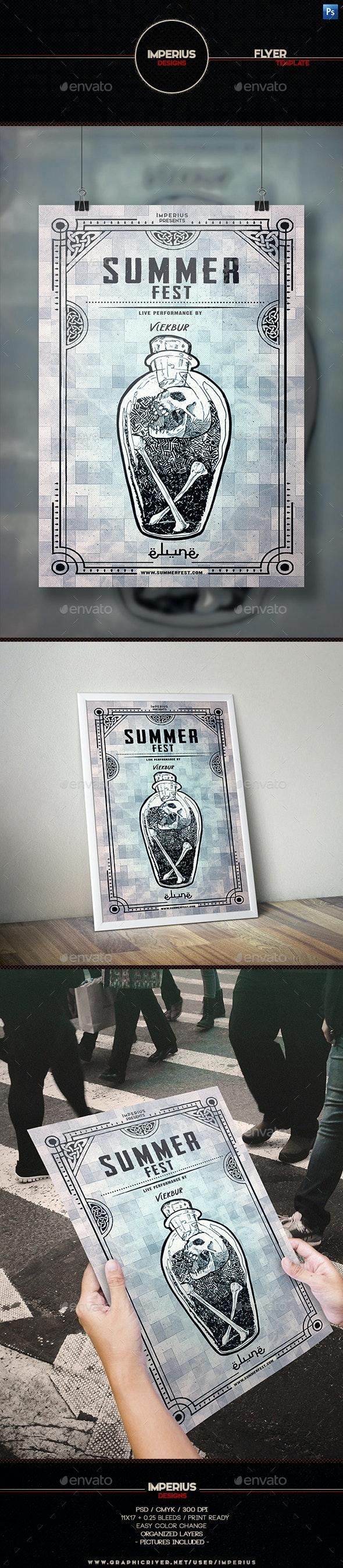 Summer Fest Flyer Template - Clubs & Parties Events