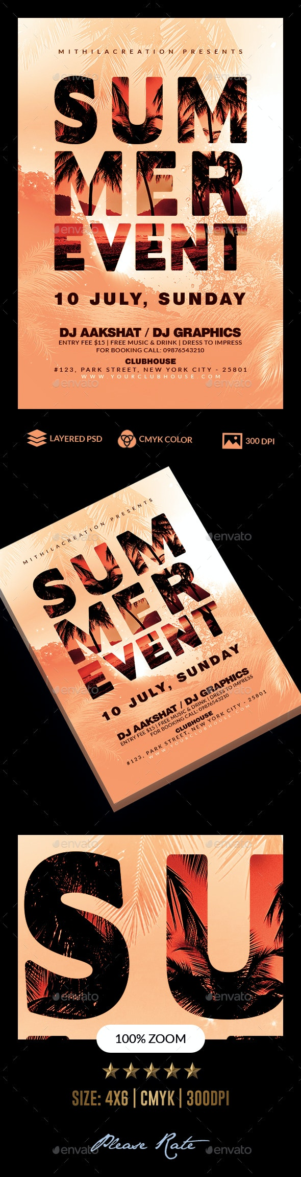 Summer Party - Holidays Events