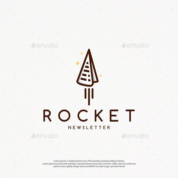 Paper Rocket Logo Template