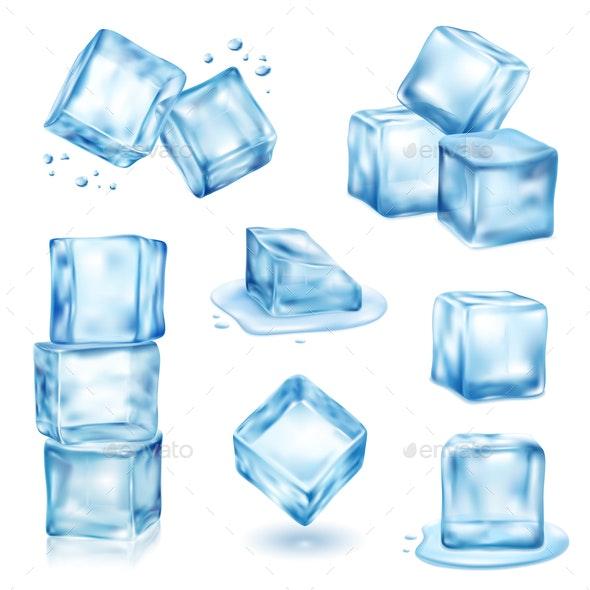 Ice Cube Set - Miscellaneous Vectors