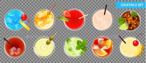 Cocktails Transparent Set - Miscellaneous Vectors