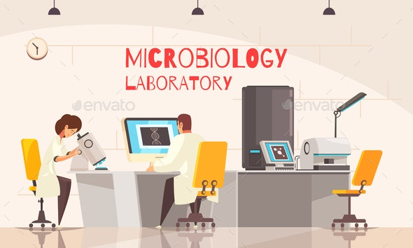 Microbiology Laboratory Office Composition - Miscellaneous Vectors