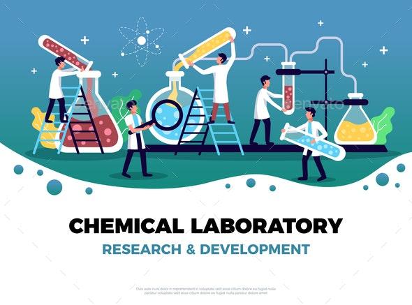 Chemical Research Laboratory Composition - Health/Medicine Conceptual