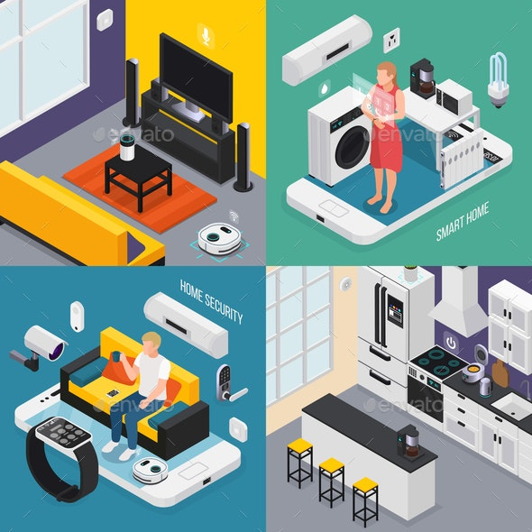 IOT Isometric Concept - Computers Technology
