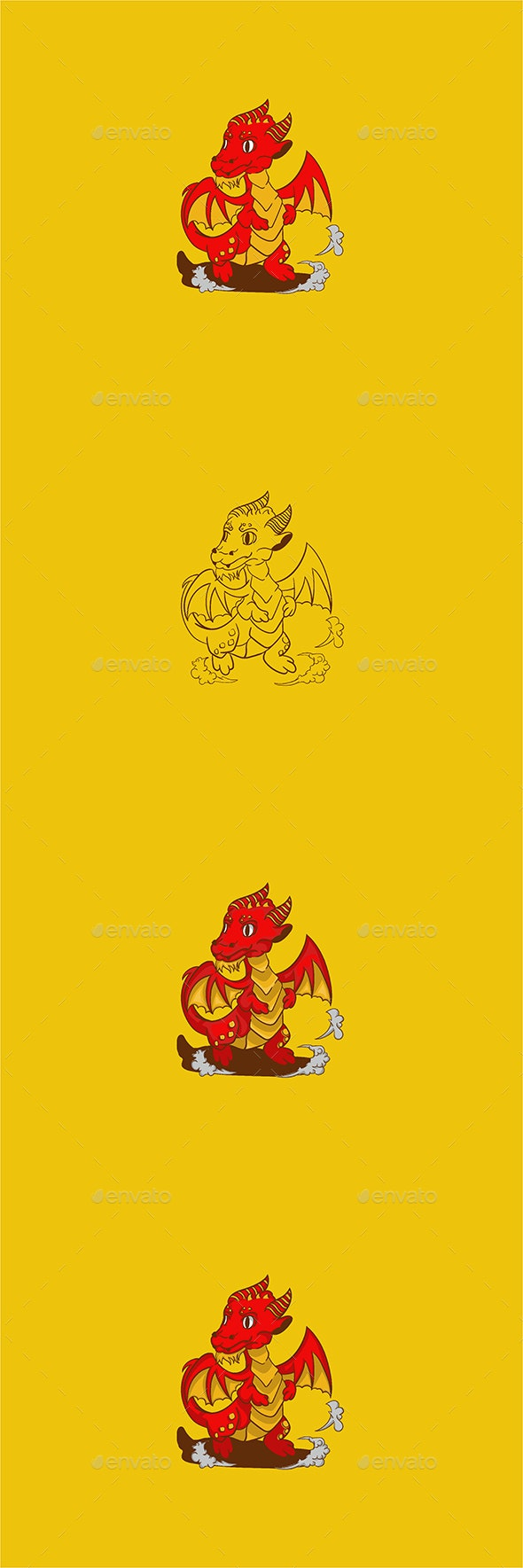 Dragie - Vector Art - Monsters Characters