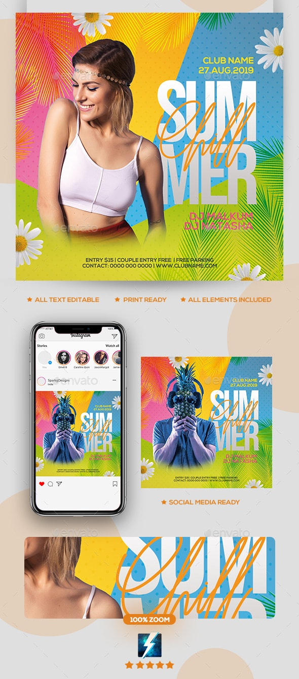 Chill Summer Party Flyer - Clubs & Parties Events